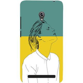 Snapdilla Colorful Background Artistic Young Lady Simple Good Looking Smartphone Case For Asus Zenfone 5