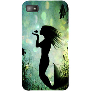 Snapdilla Graphic Design Artistic Little Mermaid Superb Painting Best Cell Cover For BlackBerry Z10