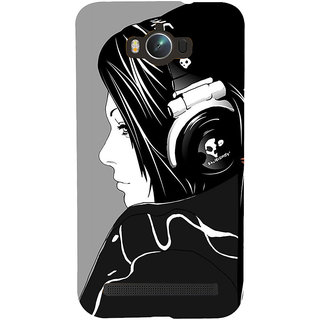 Snapdilla Grey Background Beautiful Girl With Headphones Music Dj Mobile Case For Asus Zenfone Max ZC550KL :: Asus Zenfone Max ZC550KL 2016 :: Asus Zenfone Max ZC550KL 6A076IN