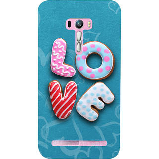 Snapdilla Blue Background Chocolate Donut Cartoon Love Quote Unique Back Cover For Asus Zenfone Selfie ZD551KL