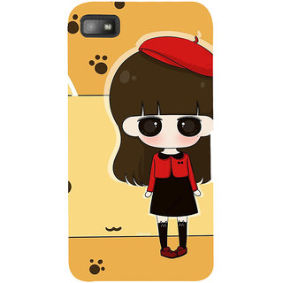 Snapdilla Yellow Background Cartoon Clipart Cute Girl Superb Designer Case For BlackBerry Z10
