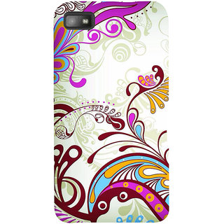 Snapdilla Artistic Floral Rangoli Pattern Sober Peacock Design Good Looking Phone Case For BlackBerry Z10