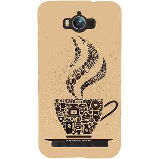 Snapdilla Modern Clipart Light Background Coffee Time Quote Different Texture Designer Case For Asus Zenfone Max