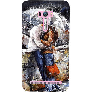 Snapdilla Artistic Modern Art Rainy Day Romantic Couple Abstract Painting 3D Print Cover For Asus Zenfone Selfie ZD551KL