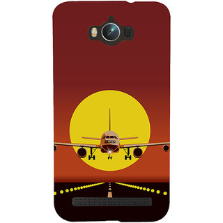 Snapdilla Dark Background Plane Take Off  Landing Sunset Painting 3D Print Cover For Asus Zenfone Max