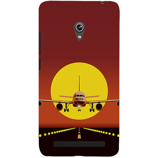 Snapdilla Dark Background Plane Take Off  Landing Sunset Painting 3D Print Cover For Asus Zenfone 5
