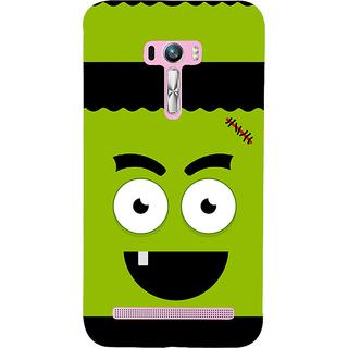 Snapdilla Funny Green Stitch Face Green Background Unique Designer Case For Asus Zenfone Selfie ZD551KL