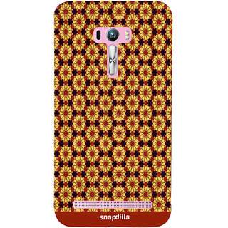 Snapdilla Colourful Artistic Floral Pattern Modern Stylish Looking Awesome Designer Case For Asus Zenfone Selfie ZD551KL