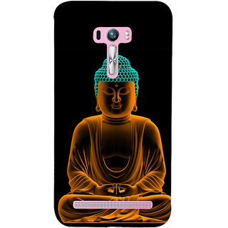 Snapdilla Good Looking Golden Gautam Buddha Meditation Painting Peaceful Pleasant Cell Cover For Asus Zenfone Selfie ZD551KL