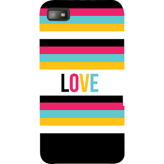 Snapdilla Awesome Colourful Stripes Pattern Beautiful Love Quote Romantic Simple Phone Case For BlackBerry Z10