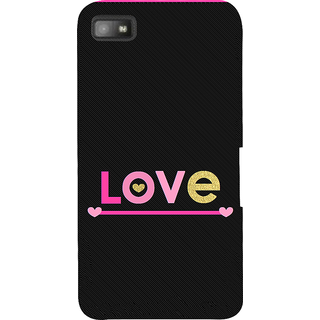 Snapdilla Artistic  Creative Colorful Love Quote Impressive Pink Heart 3D Print Cover For BlackBerry Z10