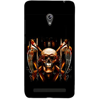 Snapdilla Animated Halloween Deadly Crazy Black Color Funky Dangerous 3D Print Cover For Asus Zenfone 5