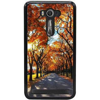 Fuson Designer Back Cover For Asus Zenfone 2 Laser ZE550KL (5.5 Inches) (Sunshine Full Bloomed Trees Orange Trees Spring Autumn)