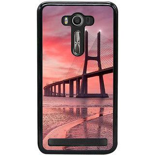 Fuson Designer Back Cover For Asus Zenfone 2 Laser ZE550KL (5.5 Inches) (Bridge River Bridge Evening View Of Bridge Sea Bridge Sunset)