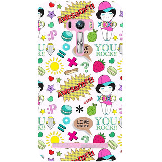 Snapdilla Awesome XoXo Girl Love Forever Quote White Background Cell Cover For Asus Zenfone Selfie ZD551KL
