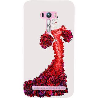Snapdilla White Background Trendy Fashion Girl Model Vogue Back Cover For Asus Zenfone Selfie ZD551KL