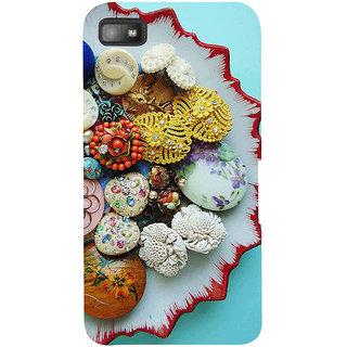 Snapdilla Multi Color Fancy Unique Sea Shell Ornamental Pearls Back Cover For BlackBerry Z10
