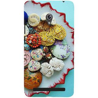 Snapdilla Multi Color Fancy Unique Sea Shell Ornamental Pearls Back Cover For Asus Zenfone 5