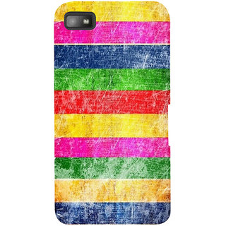 Snapdilla Different Cute Vintage Rainbow Colors Texture Hd Print Designer Case For BlackBerry Z10