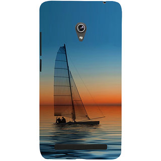 Snapdilla Beautiful Sunset Romantic Couple Nature Theme Boat Painting Back Cover For Asus Zenfone 5