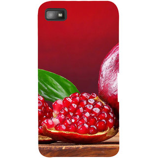 Snapdilla Bright Red Unique Design Pomegranate Awesome Cell Cover For BlackBerry Z10