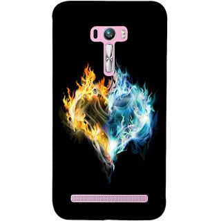 Snapdilla Breakup Love Heart Shaped Burning Fire Black Background Designer Case For Asus Zenfone Selfie ZD551KL