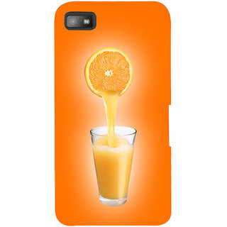 Snapdilla Light Color Background Orange Fruit Juice Logo Uique Mobile Case For BlackBerry Z10