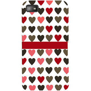 Snapdilla White Color Background Lovely Cute Little Heart Pattern Good Looking Designer Case For BlackBerry Z10