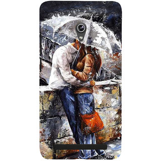 Snapdilla Artistic Modern Art Rainy Day Romantic Couple Abstract Painting 3D Print Cover For Asus Zenfone 5