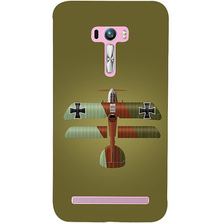 Snapdilla Green Color Clipart Flying Army War AirPlane Take Off  Designer Case For Asus Zenfone Selfie ZD551KL