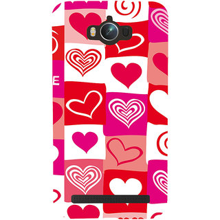 Snapdilla Multi Colour Different Love Hearts Simple Cool Good Looking Pretty Mobile Cover For Asus Zenfone Max