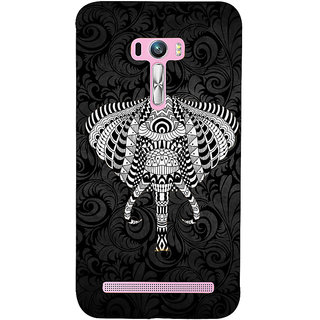 Snapdilla Black Color Floral Background Classic Elephant Artistic Sketch Cell Cover For Asus Zenfone Selfie ZD551KL