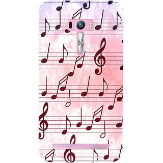 Snapdilla Western  Traditional Musical Chords Note Light Backgroud Phone Case For Asus Zenfone Selfie ZD551KL