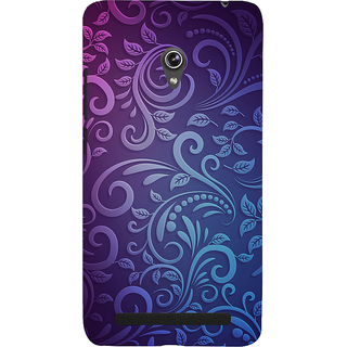 Snapdilla Artistic Modern Art Best Blue Color Floral Rangoli Pattern Simple Designer Case For Asus Zenfone 5
