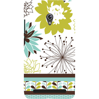 Snapdilla White Color Background Line Art Cool Floral Painting Classic Mobile Pouch For Asus Zenfone 5