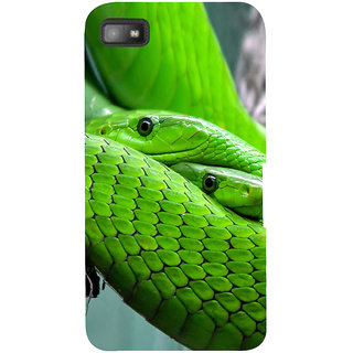 Snapdilla Cool Looking Green Color Stunning Python Snake Cell Cover For BlackBerry Z10