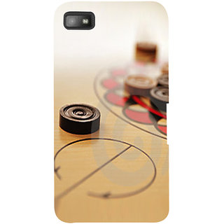 Snapdilla Good Looking Carrom Coin Artistic Designer Game Lovers Mobile Cover For BlackBerry Z10