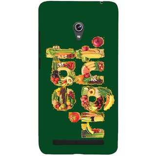 Snapdilla Awesome Looking Eat Right Motivational Quote Green Color Different Cell Cover For Asus Zenfone 5
