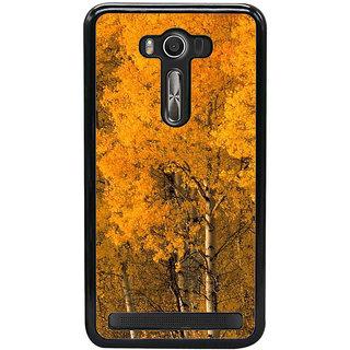 Fuson Designer Back Cover For Asus Zenfone 2 Laser ZE550KL (5.5 Inches) (Yellow Trees Orange Trees Autumn Spring Seasonal Beauty)
