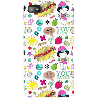 Snapdilla Awesome XoXo Girl Love Forever Quote White Background Cell Cover For BlackBerry Z10
