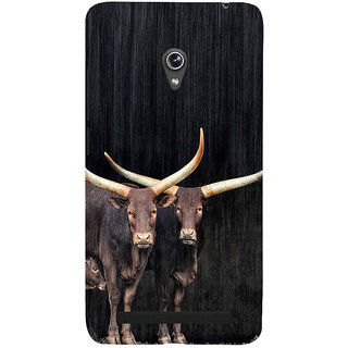 Snapdilla Good Looking Black Background Cows With Calf Design Cell Cover For Asus Zenfone 5