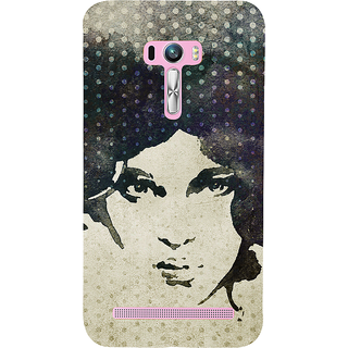 Snapdilla Artistic Unique Dotted Pattern Stylish Girl Face Painting Mobile Case For Asus Zenfone Selfie ZD551KL