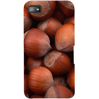 Snapdilla Unique Brown Background Hazelnut Pattern Nutshell 3D Nutella Cell Cover For BlackBerry Z10