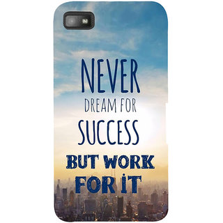 Snapdilla Awesome Life Quote On Success Theme Perfect Mobile Pouch For BlackBerry Z10