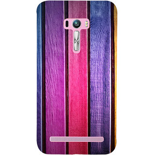 Snapdilla Artistic Colourful Wood Block Stripes Pattern Classic Branded Back Cover For Asus Zenfone Selfie ZD551KL