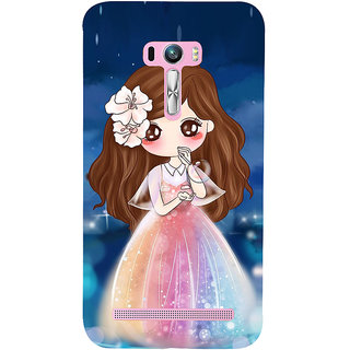 Snapdilla Blue Background Cartoon Babie Cute Little Girl Kid Mobile Case For Asus Zenfone Selfie ZD551KL