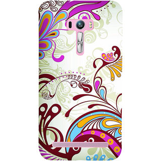 Snapdilla Artistic Floral Rangoli Pattern Sober Peacock Design Good Looking Phone Case For Asus Zenfone Selfie ZD551KL