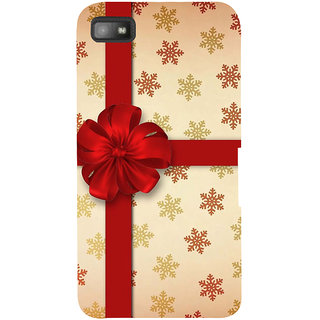 Snapdilla Unique Colorful Snow Flakes Pattern Beautiful Red Flower Gift Wrap Cell Cover For BlackBerry Z10