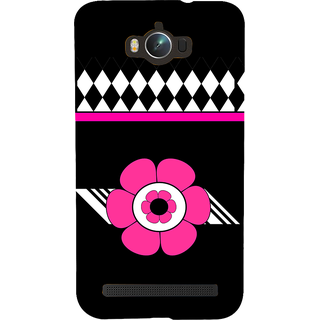 Snapdilla Black Background Diamond Pattern Pink Floral Pattern Smartphone Case For Asus Zenfone Max