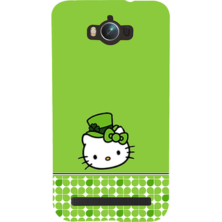Snapdilla Green Color Background Funky Artistic Hello Kitty Cartoon Best Designer Case For Asus Zenfone Max